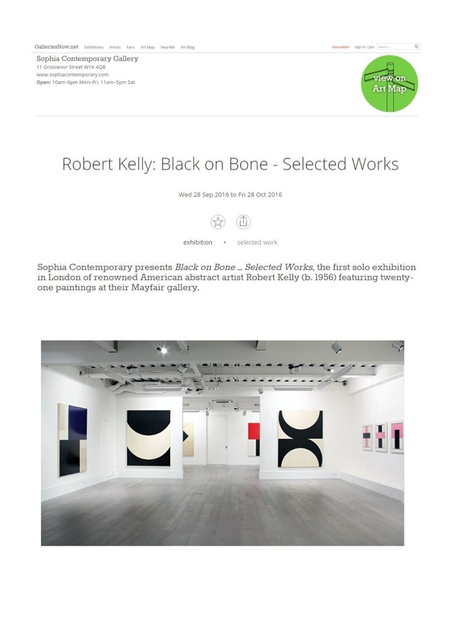 Robert Kelly: Black on Bone - Selected Works